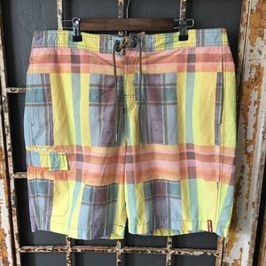 Tommy Bahama Plaid Relax Swim Trunks Size L